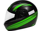 Capacete Motociclista Sky Apolo Preto Fosco com Verde
