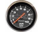 Manômetro de Ar Cronomac Cromado 52mm Preto Luz Branca 10Kg