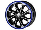 Friso para Roda Azul Refletivo 7mm