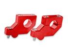 Adaptador Alongador de Guidão Avançado MX 22mm - Altura 20mm Vermelho Bering