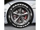 Adesivo Pneu Esportivo Hot Rod Hankook Dynamics RA03 + Setas Branco 2,5cm