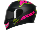 Capacete Axxis Mg16 Celebrity Marianny Preto com Pink Fosco