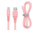 Cabo i2GO Basic USB tipo C 1,2m Rosa