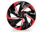 Calota Esportiva Aro 14 NITRO Black/Red 4x100 4x108 5x100