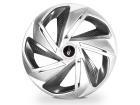 Calota Esportiva Aro 13 NITRO X Silver/Graphite 4x100 4x108 5x100
