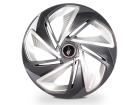 Calota Esportiva Aro 14 NITRO X Graphite/Silver 4x100 4x108 5x100