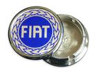 Calotinha Sub-Calota Cromada C/ Etq. Fiat Azul 48mm
