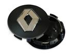 Calotinha Sub-Calota Renault Preta C/ Bot. Cromada 55mm