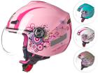 Capacete Moto Texx Aberto Feminino Arsenal New Breeze Viseira 3mm