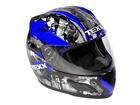 Capacete Texx Rage Gráfico Azul L-60