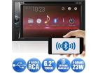 DVD Player Pioneer AVH-G218BT Bluetooth USB Android Auxiliar Tela 6 Polegadas 2 Pares Saídas RCA 2DIN
