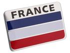 Emblema Badge Bandeira França 8x5cm
