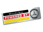 Emblema Badge Powered By Mercedes Benz 10x3cm