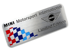 Emblema Badge Mini Motorsport International Limited Edition 8x3cm