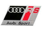 Emblema Badge Audi Sport RS Vermelho e Preto 8x4,5cm