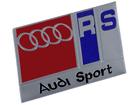 Emblema Badge Audi Sport RS Vermelho e Azul 8x4,5cm