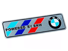 Emblema Badge Powered By BMW 12x3cm