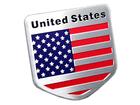 Emblema Badge Bandeira Estados Unidos 4,5x4,5cm