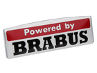 Emblema Badge Powered By Brabus 8x2,5cm