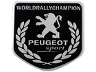 Emblema Badge Peugeot World Rally Champion 5x5cm