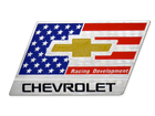Emblema Badge Chevrolet Racing 4,5x8,5cm Autoadesivo