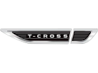 Emblema Lateral Resinado Volkswagen T-Cross Cromado