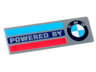 Emblema Badge Powered By BMW 10x3cm
