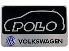 Emblema Badge Volkswagen Polo 8x5cm