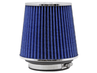 Filtro de Ar K&N Cônico Universal Duplo Fluxo Azul RG-1001BL (3 medidas de encaixe)