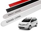 Jogo Friso Lateral Nissan Grand Livina 10/14 Ponta Redonda com Grafia - Tiger
