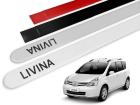 Jogo Friso Lateral Nissan Livina 10/14 Ponta Redonda com Grafia - Tiger