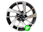 Roda BAR GLI Aro 15 x 6 Hyundai 4x100 ET40 Preta diamantada