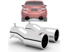 Par Ponteiras de Escapamento Honda Civic 12/16 - Borda Roletada Outs