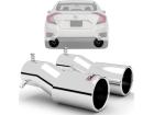 Par Ponteiras de Escapamento Honda Civic 17/.. - Borda Roletada Outs