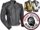 Jaqueta Motociclista Texx em Couro com Cupim New Rock Evolution