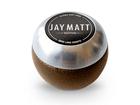 Manopla Bola de Câmbio Redonda Couro Marrom Aro Escovado Jay Matt Universal 53mm