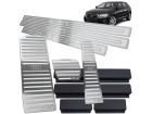 Kit Pedaleira Descanso Soleira Audi A3 13/.. Câmbio Automático Alto Relevo Prata