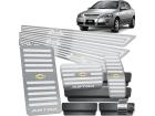 Kit Pedaleira Descanso Soleira Astra 4P 99/12 Câmbio Automático Alto Relevo Prata