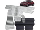 Kit Pedaleira Descanso Soleira Corolla 15/.. Câmbio Automático Alto Relevo Prata