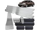 Kit Pedaleira Descanso Soleira Corolla XEI 15/.. Câmbio Automático Alto Relevo Prata