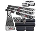 Kit Pedaleira Descanso Soleira Corolla XRS 15/.. Câmbio Automático Alto Relevo Preto