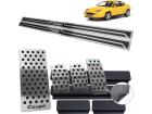 Kit Pedaleira Descanso Soleira Fiat Coupe Câmbio Manual - Aço Inox Autocolante