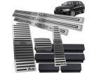 Kit Pedaleira Descanso Soleira Audi A3 13/.. Câmbio Automático Baixo Relevo Preto