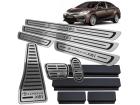 Kit Pedaleira Descanso Soleira Corolla XEI 15/.. Câmbio Automático Baixo Relevo Preto