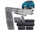 Kit Pedaleira Descanso Soleira Fox 15/.. Câmbio Automático Baixo Relevo Preto
