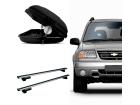 Bagageiro para Chevrolet Tracker 01/09 Maleiro de Teto Sportrack + Rack Travessa Mult Projecar