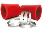 Kit Mangote Vermelho para Instalação de Filtros de Ar Esportivo