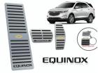 Kit Pedaleira Descanso de Pé Equinox Câmbio Automático Preto