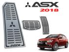Kit Pedaleira Descanso de Pé ASX 17/.. Câmbio Automático Preto