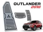 Kit Pedaleira Descanso de Pé Outlander 16/ Câmbio Automático Preto